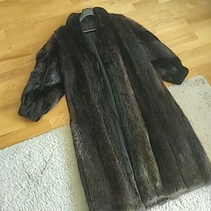 Beaver coat in perfect  condition .